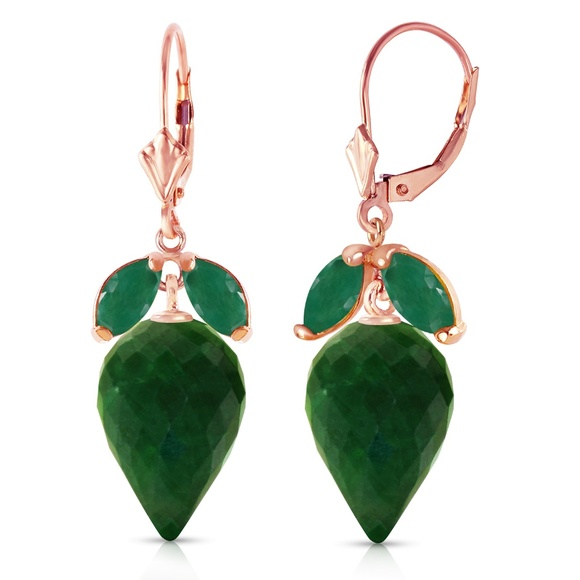 POINTY BRIOLETTE DYED GREEN SAPPHIRES & EMERALDS Boutique
